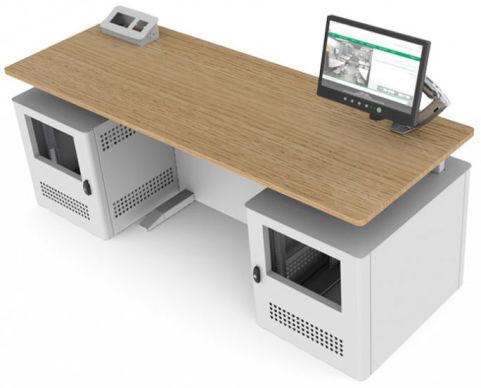 Sentio Desk Oak Double Top View
