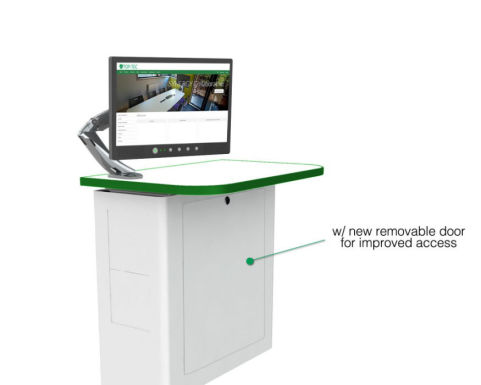 Valty C Wall Mounted Lectern Removable Door