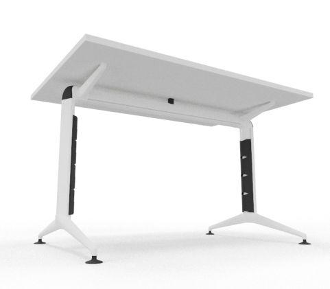 Travido 10 Table White Top White Leg A