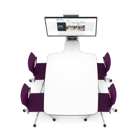 4-seat-office-audio-visual-integrated-meeting-table