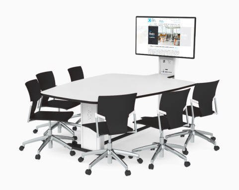 Unite Blade 6 Person Multimedia Meeting Table
