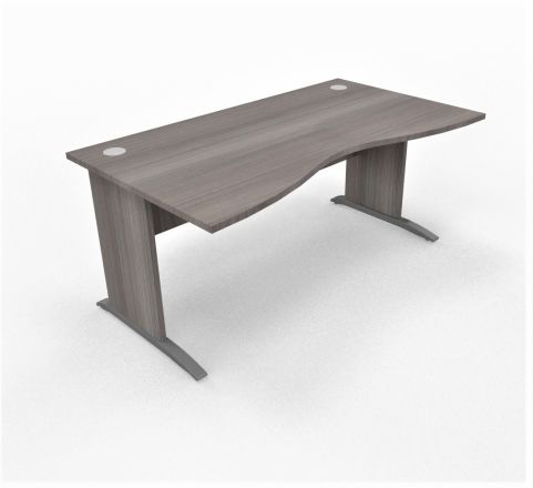 Oslo Double Wave Desk Cedar Top Cedar Leg