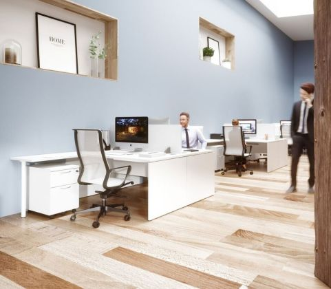 Oslo Desking Panel Desking Contrasting Tops