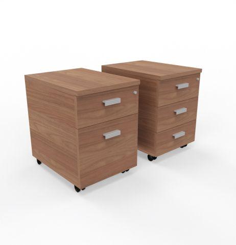 Moka 2 Drawer Or 3 Drawer Pedestal In Ambe Walnut