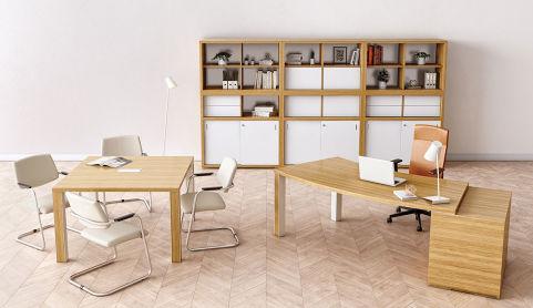 KARA Desk With 3 Drawer Pedestal Supporting