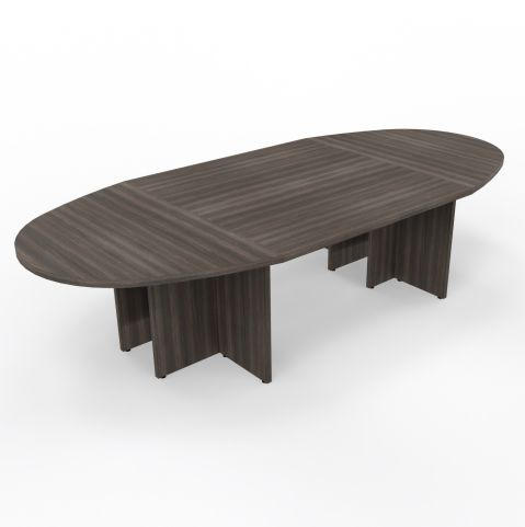 Modulo Table 10 People Table Panel Leg Royal Brown Oak