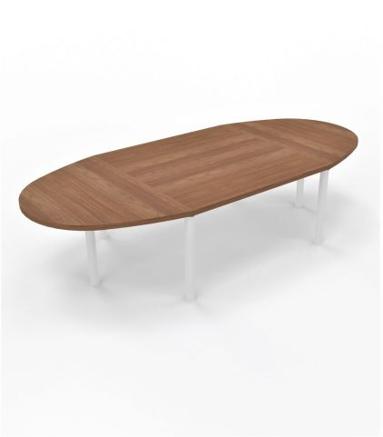 Modulo Table 10 People Table Cylindrical LegAmber Walnut