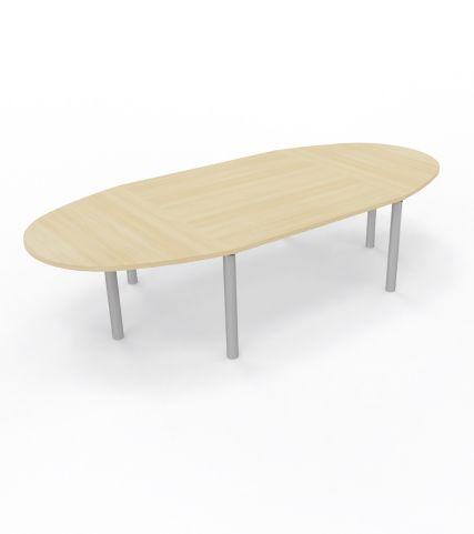 Modulo Table 10 People Table Cylindrical Leg Royal Brown Oak