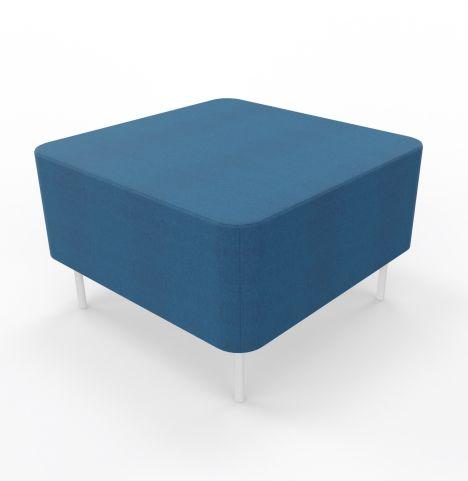 Single Seater In Blazer Fabric White Legs