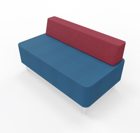 Twin Seater With Back Rest Red Seat Blue