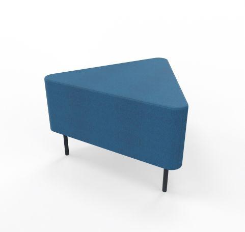 Foot Stool Angled Blazer Blue Fabric