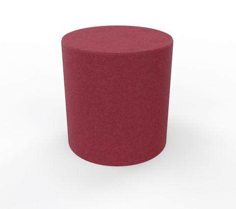 Round Foot Stool Low Stool Red Blazer Fabric