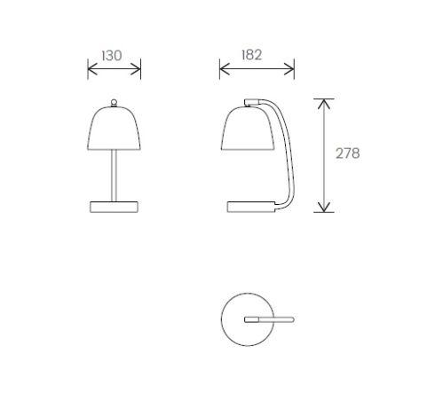 DL01 Desk Lamp Dimensions