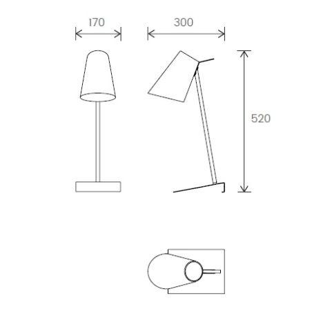 Cardiff Desk Lamp Dimensions