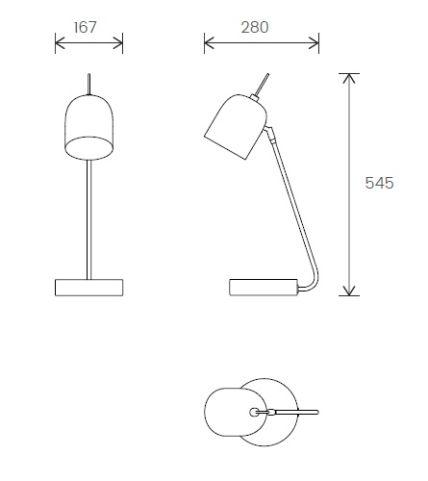 DL03 Desk Lamp Dimensions