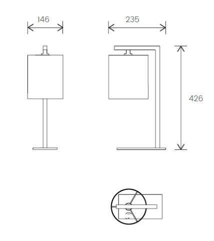 Monaco Desk Lamp Dimensions