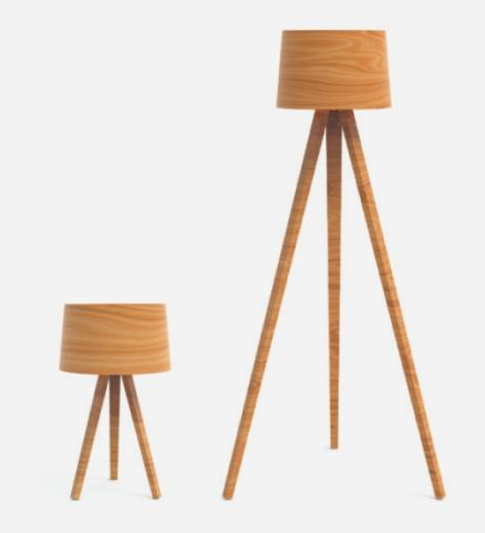 Wooden Lamp Floor Lamp And Desk Lamp