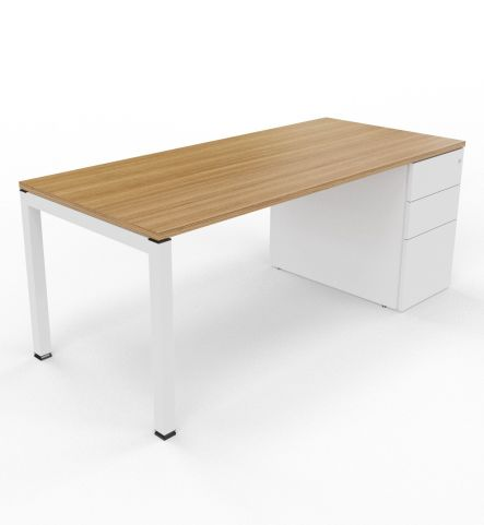 Gateway Desk With Supporting Pedesal Left Side