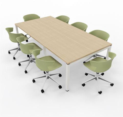 8 Person Table Unit Light Okas