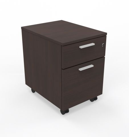 Two Drawer Mobile Pedestal In Wenge