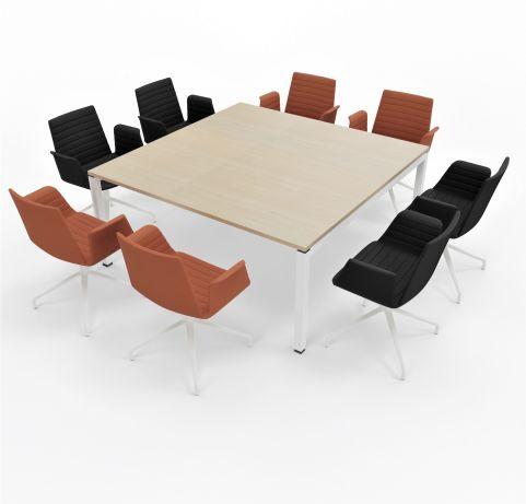 Table Gateway Bralco 1620 X 1620 4 People Light Oak