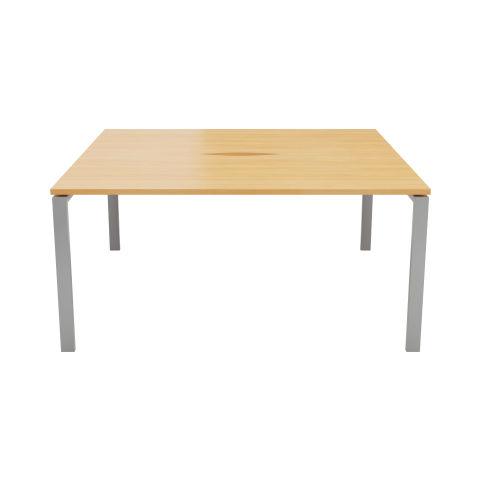 2 Person Bench Desk No Screens Cable Scalloped