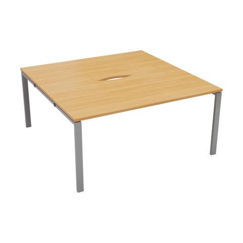 2 Person Bench Desk No Screens