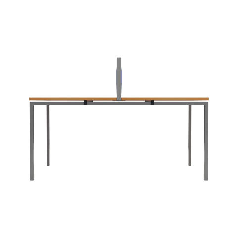 2 Person Bench Desk Side View