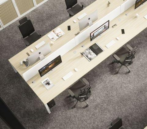 Buro 4 Person X Person Bench Desk