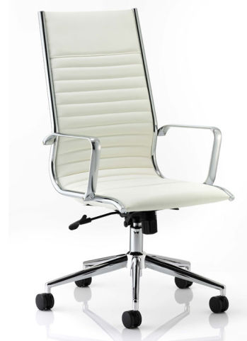 White Eames Chair Leather