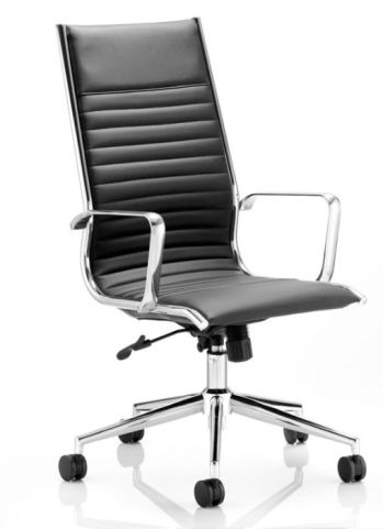 Hilton Black Leather Designer Chair