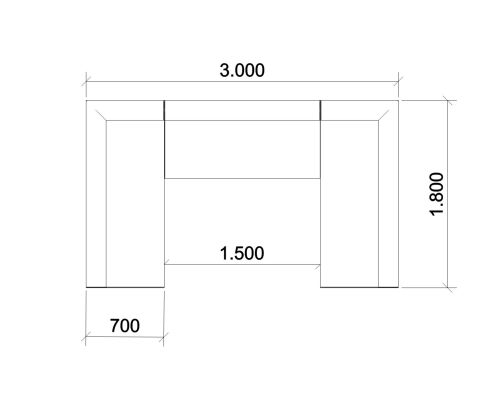 Form Line Drawing Dimensions