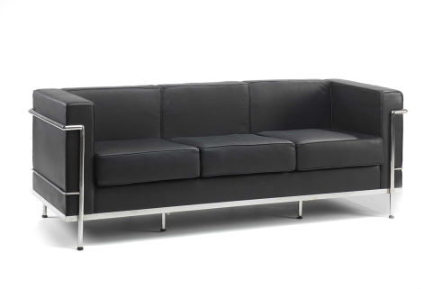 Le Corbuisre Sofa Black 3 Seater Office Reality