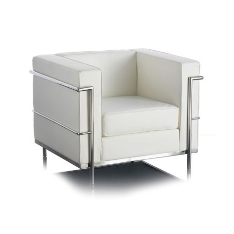 Le Corbuiser White Seating Cubic Seat Office Reality
