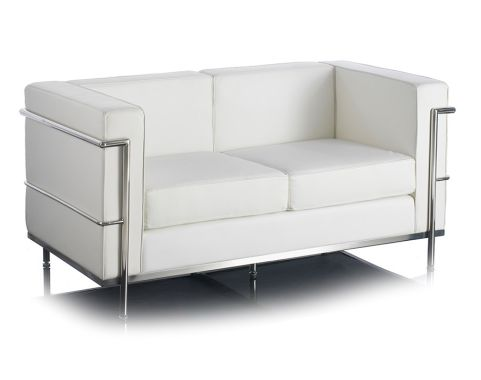 Le Corbuiser Seating White 2 Seater