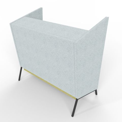 Rear Shot Of Grey And Green Two Person High Back Upholstered Seating
