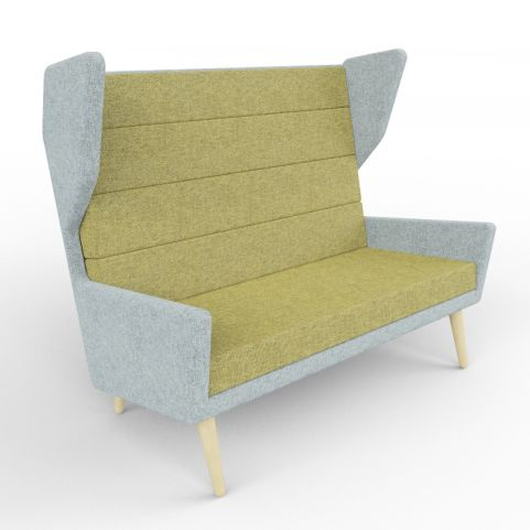 4 - Upholstered Two Person Seating In A Wide Range Of Two-tone Finishes, Beech Legs
