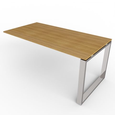 Loop Frame Desk Extension - Chrome Legs