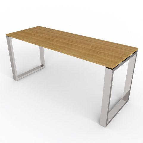 600mm Deep Loop Frame Desk With Chrome Legs