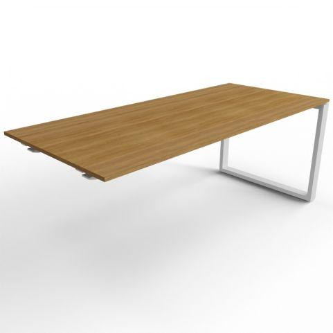 600mm Deep Loop Frame Desk Extension - Aluminium Frame