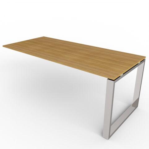 600mm Deep Loop Frame Desk Extension - Chrome Frame