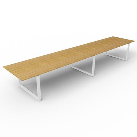 4800mm Loop Frame Meeting Table - Aluminium Frame