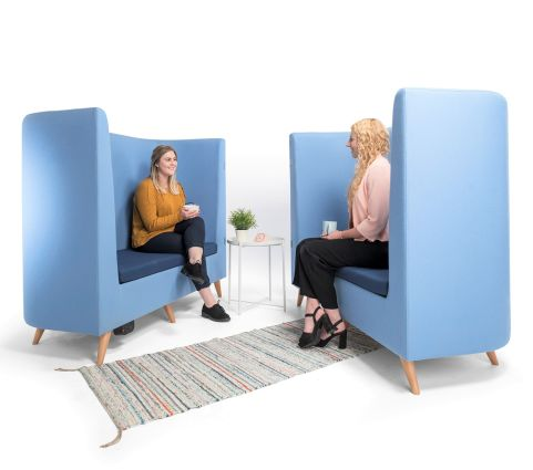 Colab Sofa Blue Set In Scene