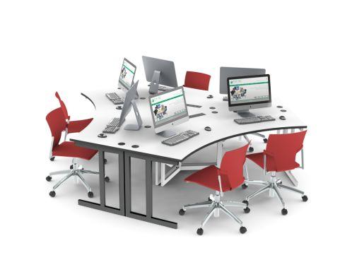 Delta Call Centre Desk 6 Person Layout