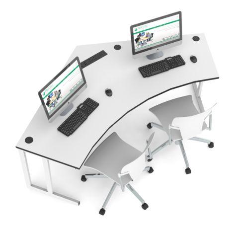 Delta Two Person Desk Call Centre Desk