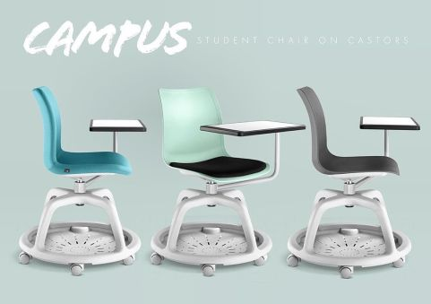 Campus Chair With Swing Table