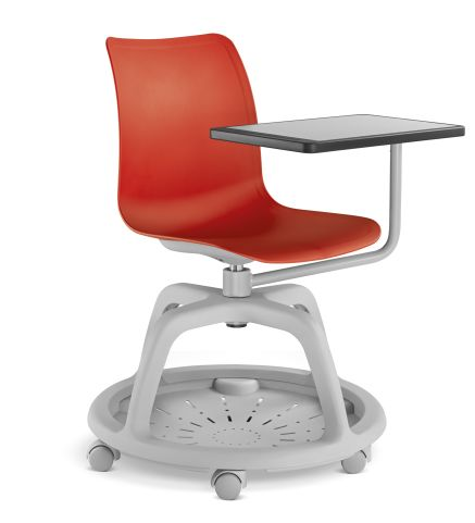 Campus Chair Red With Swing Tablet