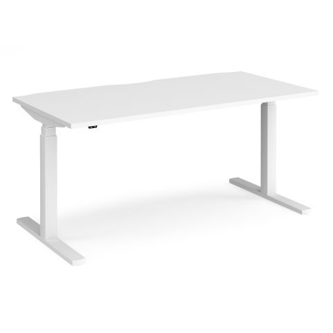 Elev8 Sit-stand Desk With Touch Controls - WHITE FRAME-WHITE