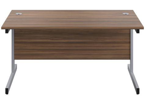 Draycott 600mm Deep Desk In Walnut Front View