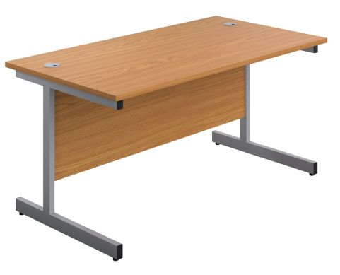 Draycott 1800mm Desk In Natural Oak Front Angle View